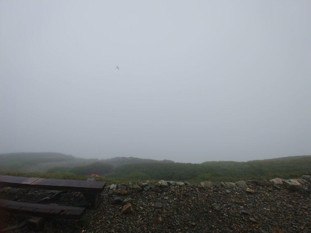 2018年6月23日14時頃 北岳山荘からの景色