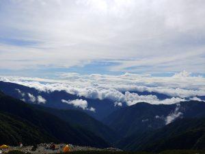 朝8時頃の山荘からの眺め