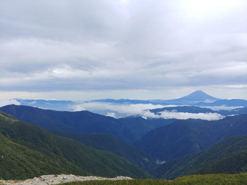 お昼前の富士山
