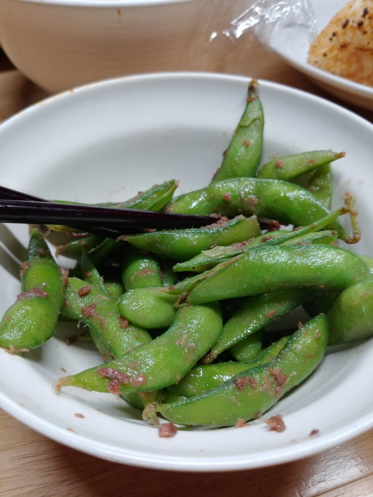 枝豆アンチョビ炒め