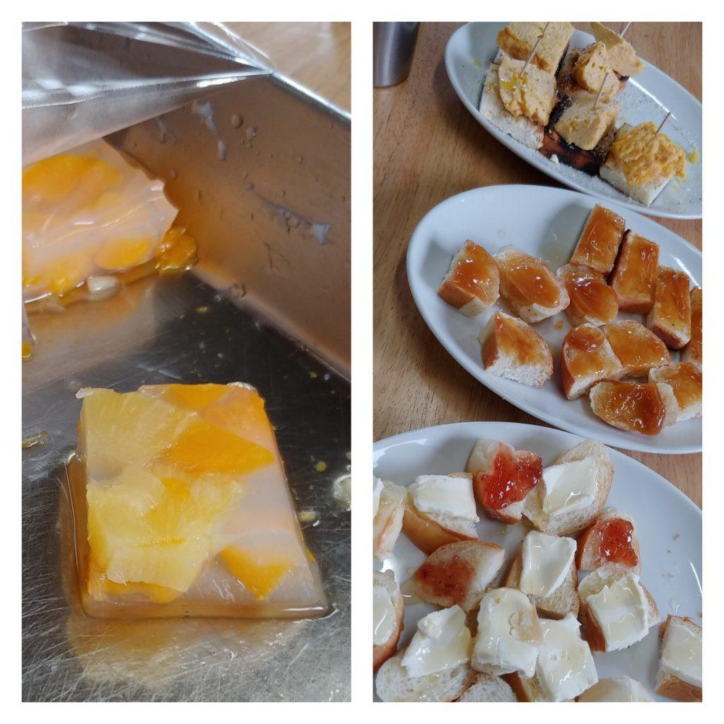 フルーツ寒天ゼリーとアレンジパン