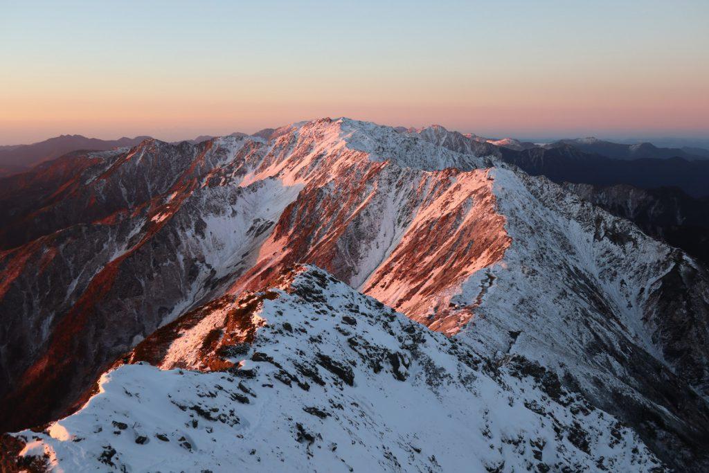 北岳山頂から撮った間ノ岳方面🏔️✨