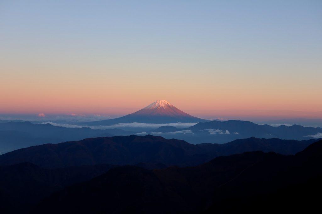 ピンクの富士山🗻✨
