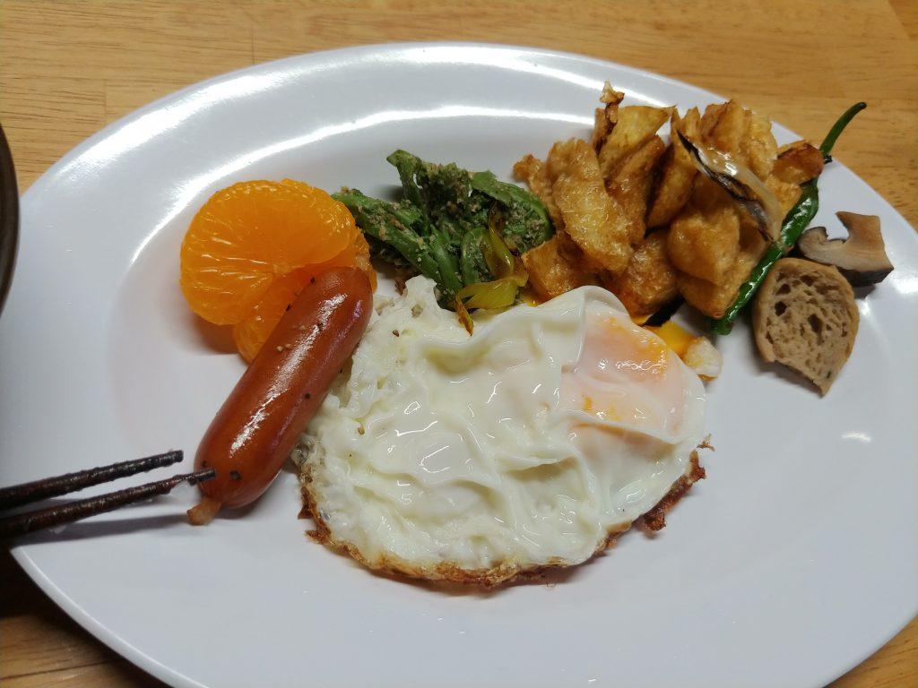 今日の朝食☀️🍴(Pちゃん作)