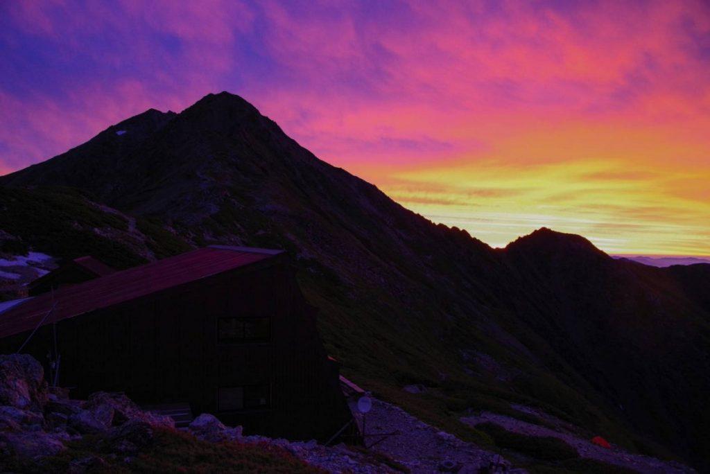 北岳の夕焼け